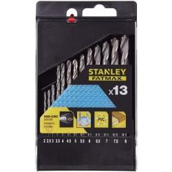 ΣΕΤ 13 ΤΕΜΑΧΙΩΝ ΤΡΥΠΑΝΙΑ ΜΕΤΑΛΛΟΥ HSS-CNC 2-8(.5mm) STANLEY FATMAX STA56013